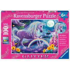 Ravensburger Trblietavé puzzle Žiariaci jednorožec 100 dielikov