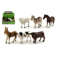 Zvířátka domácí farma plast 12cm asst různé druhy