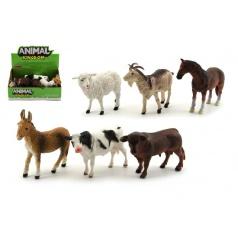 Teddies Zvířátko domácí farma plast 12cm asst různé druhy