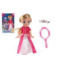 Teddies Panenka princezna s doplňky plast 28cm, v krabici 20,5x32x7,5cm