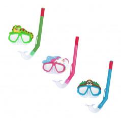 Bestway Šnorchlovací set LIL ANIMAL - brýle a šnorchl - mix 3 barvy (růžová, modrá, zelená)