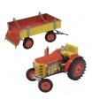 Kovap Traktor 0395 s valníkem červený / zelený - kovový model