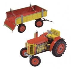 Kovap Traktor 0395 s valníkem - kovový model
