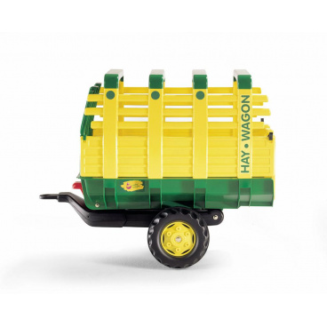 "ROLLYTOYS Vlečka na seno za traktor 1osá ""Hay Wagon""- zelenožlutá"