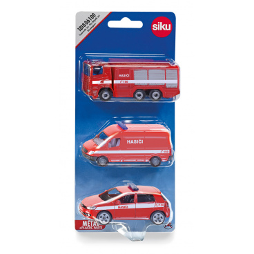 SIKU česká verze - set hasičská sada 3 aut