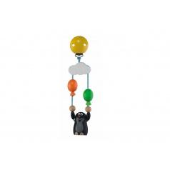 Detoa Záves na kočík drevo Krtko s balónikmi 19cm na karte