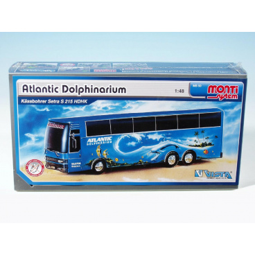 Monti System Stavebnice Monti 50 Atlantic Delfinarium Bus 1:48 v krabici 31,5x16,5x7,5cm