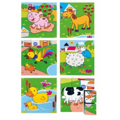 "Woody 90040 Kubus 3x3 ""Zvířata"" obrázkové kostky"