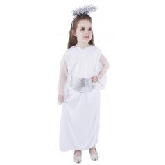 Rappa Dětský kostým anděl se svatozáří a páskem (S)