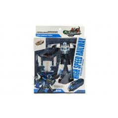 Robot/vlak transformer plast 17cm asst 2 barvy v krabici 21x27x7,5cm