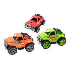 Teddies Auto terénne plast 34x22cm voľný chod 3 farby