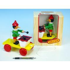 Miva Pinocchio s xylofonem tahací dřevo 20cm v krabičce 12m+
