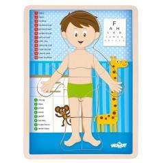 """Woody Puzzle """"Lidské tělo"""" - Kluk SK"""