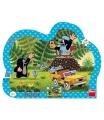Dino dětské puzzle Krtek se žlutým autem 25D