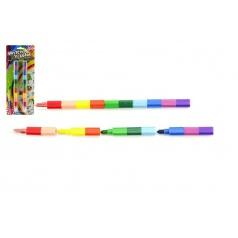 Teddies Pastelky měnící barvu 2ks 22cm na kartě