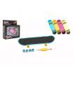 Teddies Skateboard prstový šroubovací plast 9cm s doplňky, 4 barvy