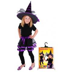 Karnevalová sukně TUTU čarodějnice s kloboukem
