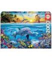EDUCA 17672 Puzzle 2000 dílků - Rodina delfínů