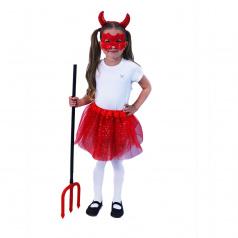 Rappa Dětský kostým tutu sukně čertice
