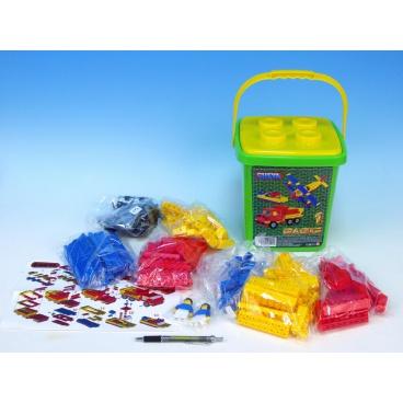 Cheva 1 Basic Stavebnice plast 309ks v kbelíku 20x22x20cm