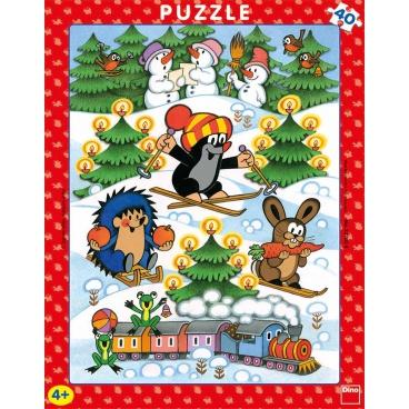 Dino dětské puzzle Krtek na sněhu 40D desk