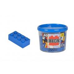 Blox 40 Kostičky modré v kyblíku