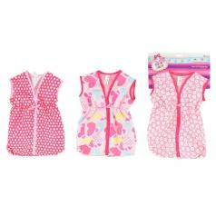 Teddies Taška/obleček na spaní látková pro miminko velikost +-30cm asst 3 barvy
