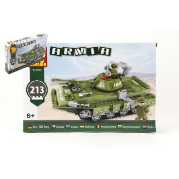 Dromader 22502 Vojáci Tank 213ks v krabici 32x21,5x5cm