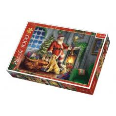 Trefl Puzzle koláž Vánoce Čas dárků 1000 dílků v krabici 40x27x6cm