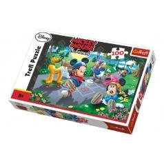 Trefl Puzzle Mickey 100 dílků 41x27,5cm v krabici 29x20x4cm
