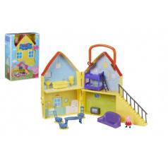 Prasiatko Peppa / modré plavky plast domček s figúrkou s doplnkami v krabici 22x32x10cm