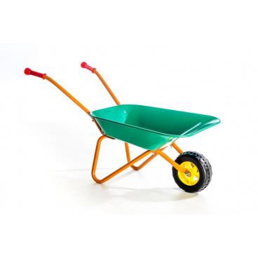 Teddies Yupee Dětské plechové kolečko zelené