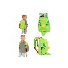Teddies Batoh dinosaurus neoprén zelený 28x30cm v sáčku