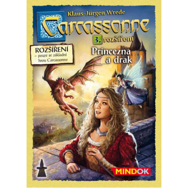 Mindok Carcassonne Princezna a drak - 3. rozšíření hry