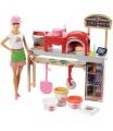 Mattel Barbie VAŘENÍ A PEČENÍ PIZZA HERNÍ SET S PANENKOU FHR09