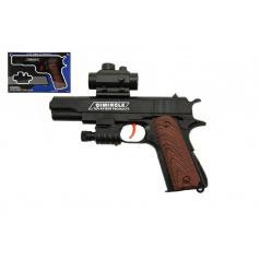 Teddies Pistole na mäkké kuličky plast 20cm v krabičce 24x15x4cm