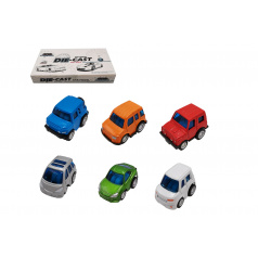 Teddies Auto mini kov/plast 5cm na zpětné natažení mix druhů 12ks v boxu