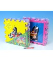 HM Studio Pěnové puzzle Krtek 30x30cm asst 4 barvy 8ks v sáčku