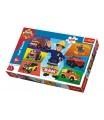 Trefl Puzzle Požárník Sam 100 dílků 41x27,5cm v krabici 29x19x4cm