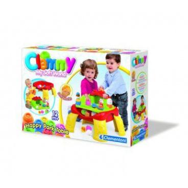 Clemmy baby - Veselý hrací stolek s kostkami a zvířátky (12 částí)