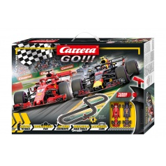 Carrera GO!!! 62483 Autodráha Race to Win 4,3m + 2 formule v krabici 58x40x8cm