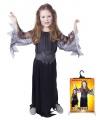 Rappa Dětský kostým černá čarodějnice/Halloween (S)