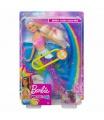 Mattel Barbie Svítící mořská panna s pohyblivým ocasem běloška GFL82
