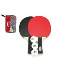 teddies Sada stolní tenis 2ks pálky + 3 míčky v tašce 26x17cm