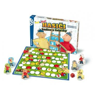 Bonaparte Hasiči hadice a žebříky Pat a Mat společenská hra v krabici 34x23x4cm