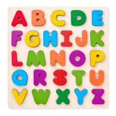 Woody Puzzle ABC-masivní písmena na desce