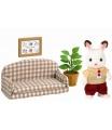 """Sylvanian Families 5013 Nábytek """"chocolate"""" králíků - taťka na pohovce"""