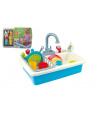 Teddies Dřez na mytí nádobí + kohoutek na vodu na baterie 20ks plast 41x28x10cm v sáčku