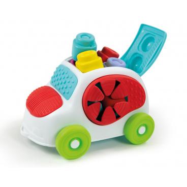 Clementoni Clemmy baby - kyblík s kostkami - autíčko