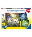 Ravensburger dětské puzzle Krásný Jednorožci 3x49d